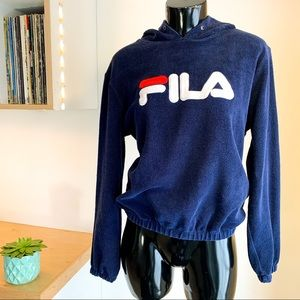 VINTAGE FILA Hooded Terry Cloth Pullover